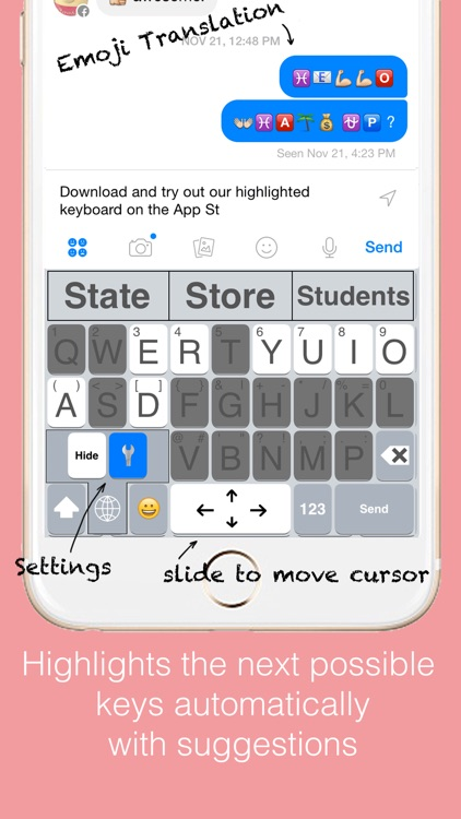 Highlighted Keyboard - Extra large Keyboard with next key hints