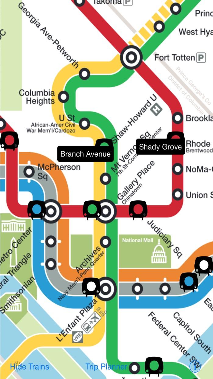 DC Metro Map Screenshot