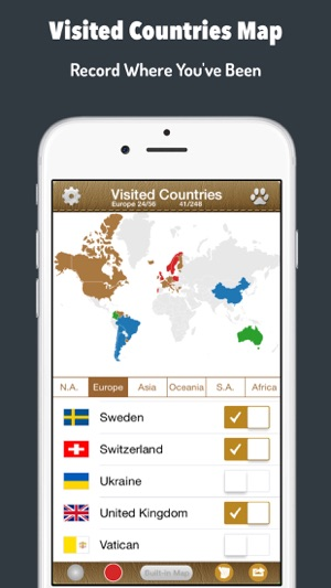 Visited countries map world travel log for marking where you screenshots gumiabroncs Image collections