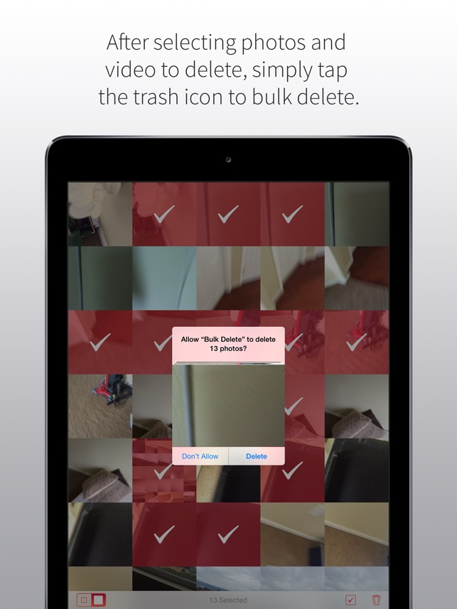 Bulk Delete - Clean up your camera roll Screenshot