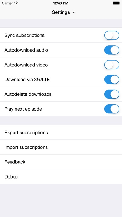 Jimcast - podcast client, manager, catcher. Integration with Podcasts, Instacast, Downcast, Pocket Casts, Overcast screenshot-3