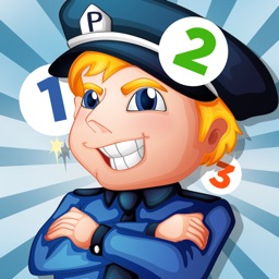 A counting game for children with police: learn to count numbers 1-10