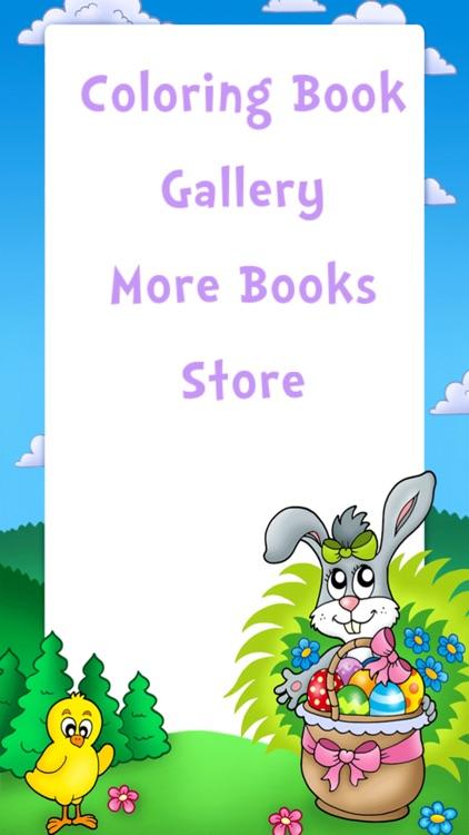 Easter Egg Kids Coloring Book! screenshot-3