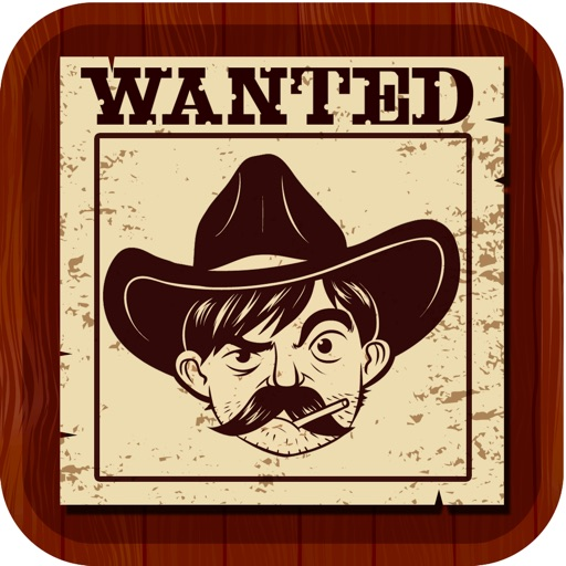 Wild West Wanted Poster Maker - Make Your Own Wild West Outlaw Photo Mug Shots iOS App
