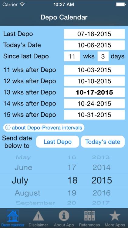 Depo calendar