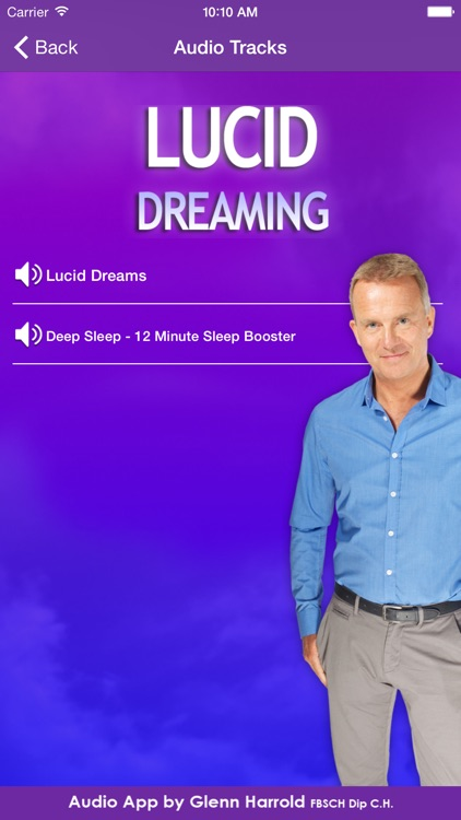 Lucid Dreaming Hypnosis by Glenn Harrold screenshot-1