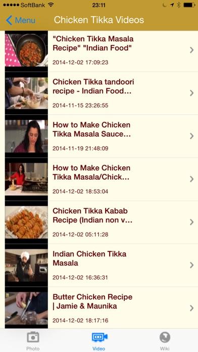 写真と動画で楽しむインド料理 screenshot1