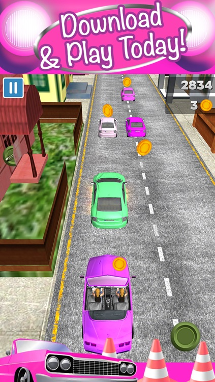 3D Girl Convertible Car Racing Game With Cute Girly Cars And Fun Race Games FREE screenshot-4
