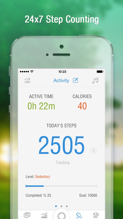 Diabetes Pedometer with Glucose & Food Diary, Weight Tracker, Blood Pressure Log and Medication Reminder by Pacer