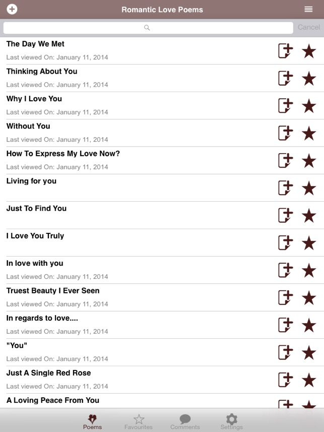 Romantic Love Poems on the App Store