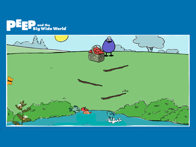 ‎PEEP and the Big Wide World Quack's Apples Screenshot