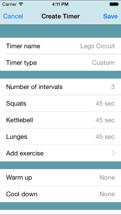 Fitness Interval Timer