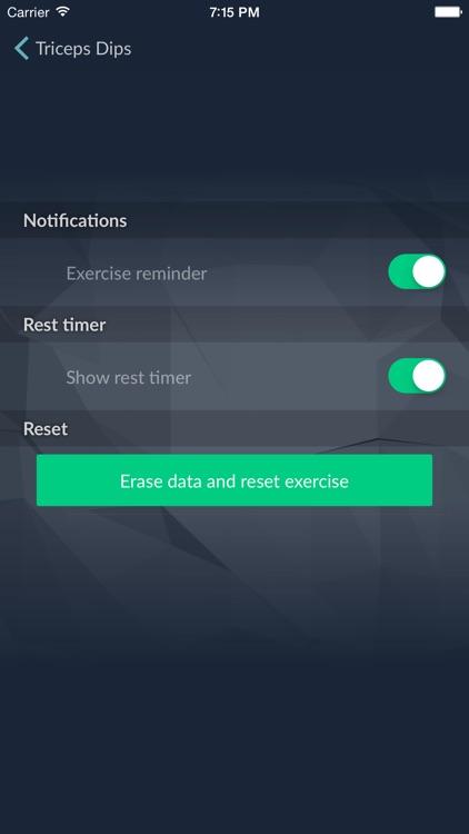 Triceps Dips - 30 Days Workout Plan screenshot-3