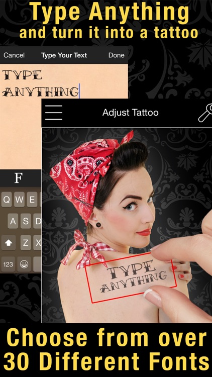 Tattoo You Premium - Use your camera to get a tattoo screenshot-3