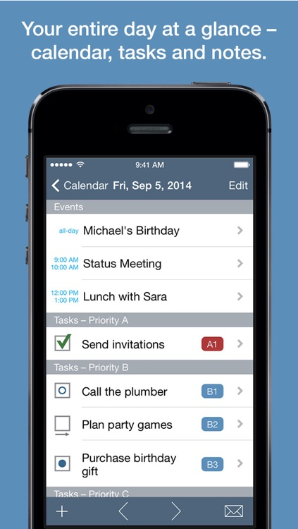 Benjamin – Task Manager and Calendar Inspired by Benjamin Franklin for iPhone