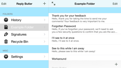 Reply Butler Lite - Text Snippets for Customer Support screenshot one
