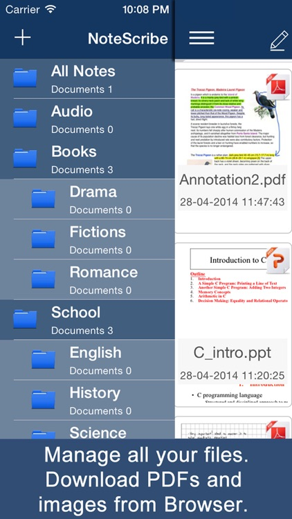 NoteScribe: Notes, PDF Annotation, Drawing and Sketching screenshot-4