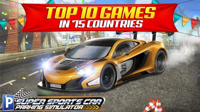 Super Sports Car Parking Simulator - Real Driving Test Sim Racing Games Screenshot