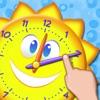 楽しい時間ゲームを伝える - インタラクティブアナログ時計と時計の読み方を学ぶ