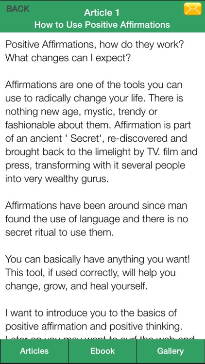 Positive Affirmations Guide - Change Your Life Through Positive Affirmations! screenshot-4