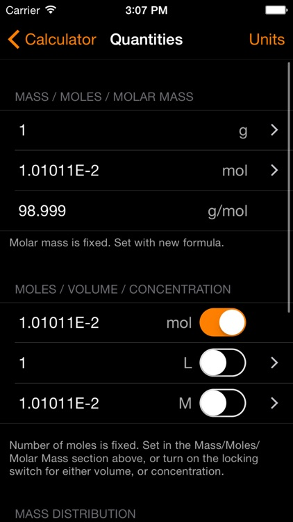 ChemTrix Chemistry Calculator screenshot-1