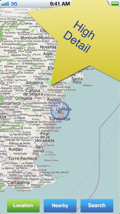 Costa Blanca No.1 Offline Map