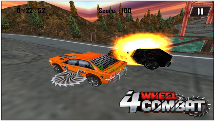 4 Wheel Combat ( 3d Car Racing Action Game ) screenshot-3