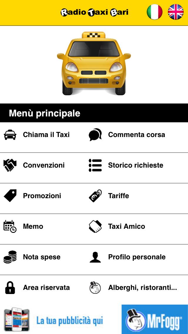 Screenshot of RadioTaxiBari3