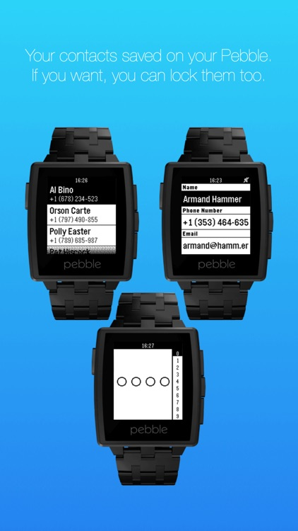 Contacts for Pebble
