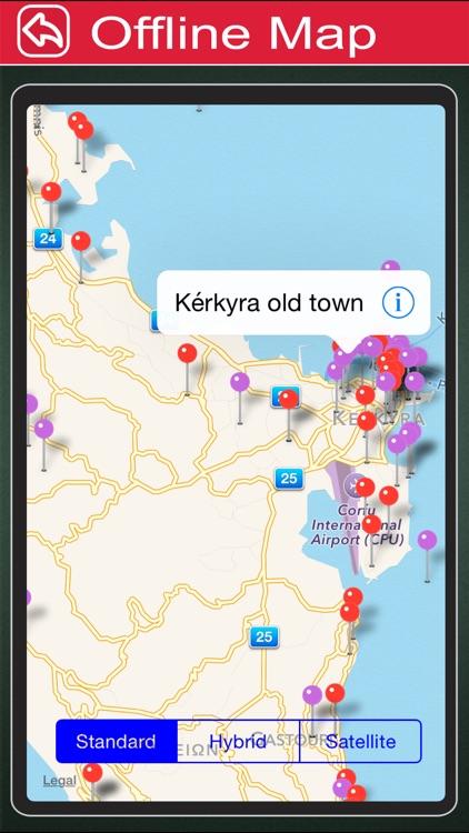 Corfu Island Offline Map Tourism Guide screenshot-4