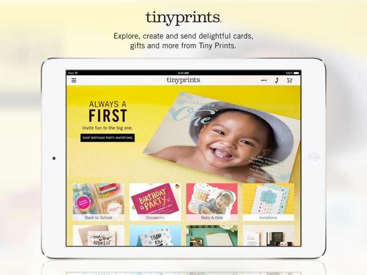Free Photo App - Create Photo Cards & Gifts at Tiny Prints