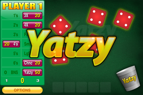 Screenshot of Yatzy Addict