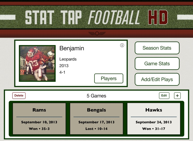 Stat Tap Football HD