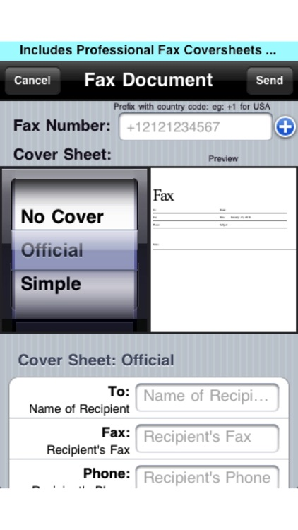 Fax Print Share Lite (+ Postal Mail and Postcards) screenshot-1