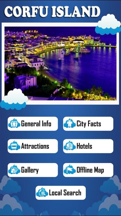 Corfu Island Offline Map Tourism Guide