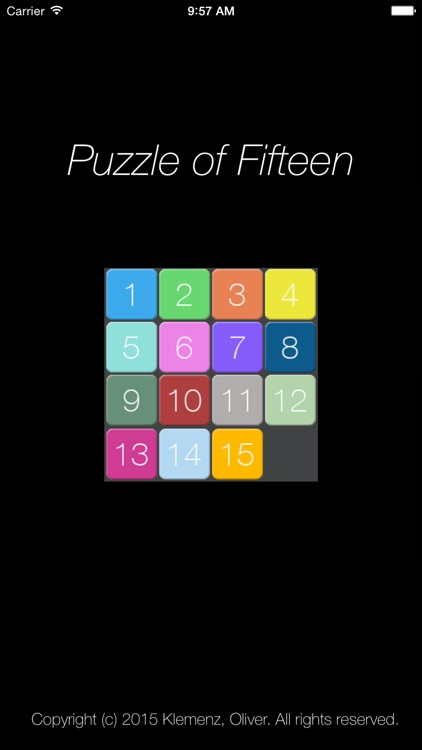 Puzzle of 15