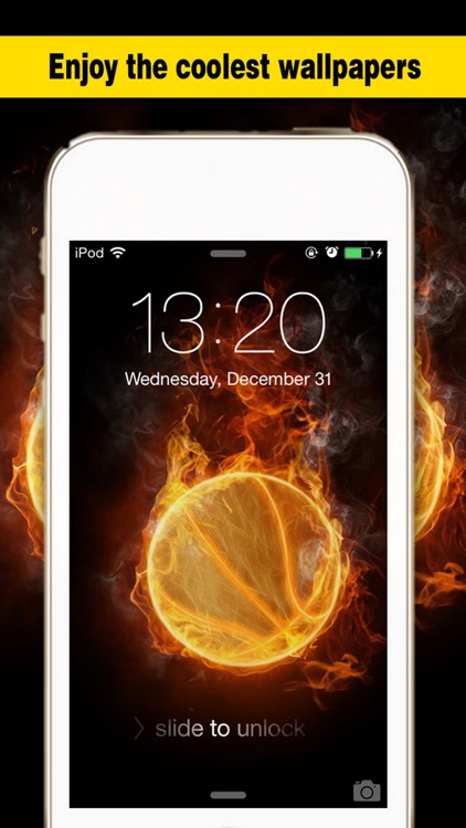 Basketball Screen - Wallpapers & Backgrounds Maker with Cool HD Themes of Players & Balls