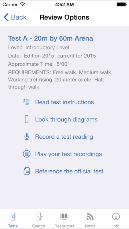 USDF EquiTests 1 - Introductory Tests, Freestyle Tests and Judges Resources screenshot-4