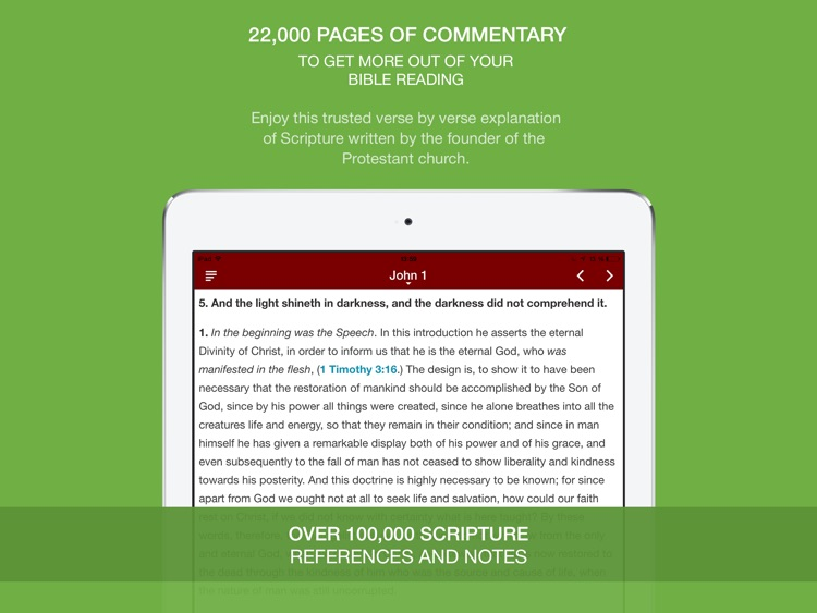 John Calvin Commentary HD - 3x larger than Matthew Henry Bible Commentary
