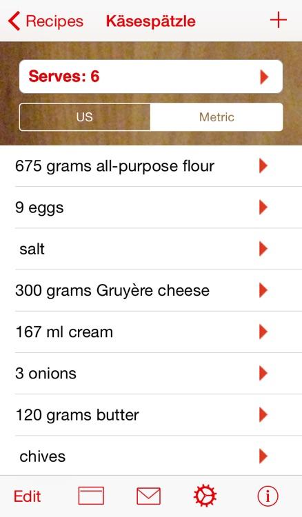 Serving Sizer Recipe Manager screenshot-3