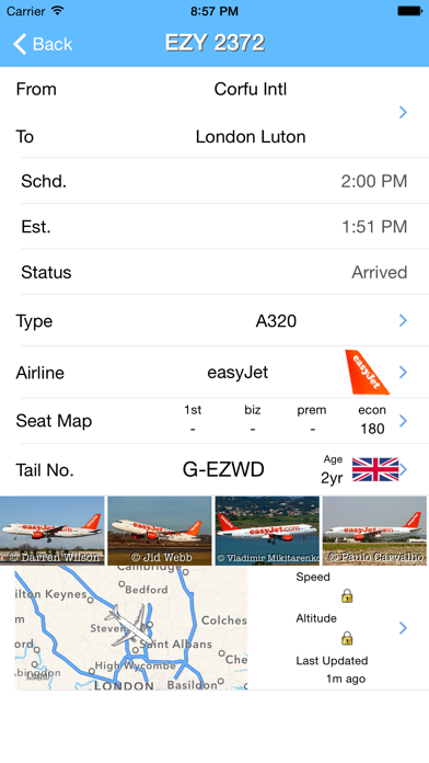 London Luton Airport - iPlane Flight Information screenshot two