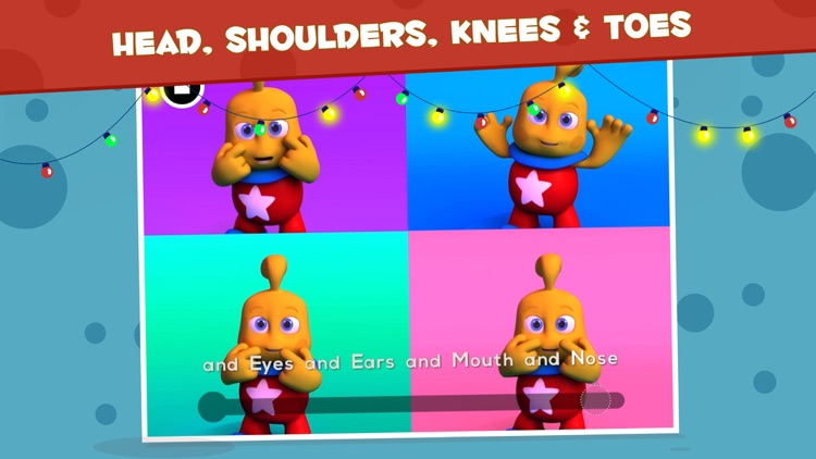 Heads, Shoulders, Knees & Toes - TopIQ Sing Along Rhyme for Children in Preschool to Kindergarten HD screenshot-0