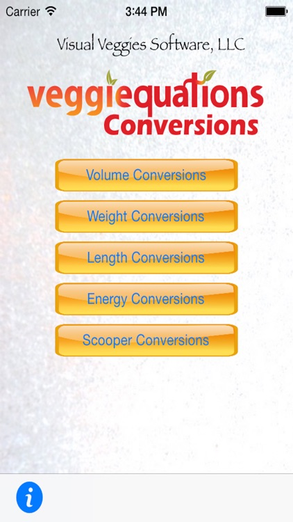 VeggiEquations Conversions