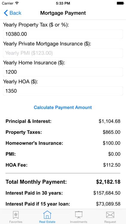 Real Estate Agent and Investor Calculator screenshot-3