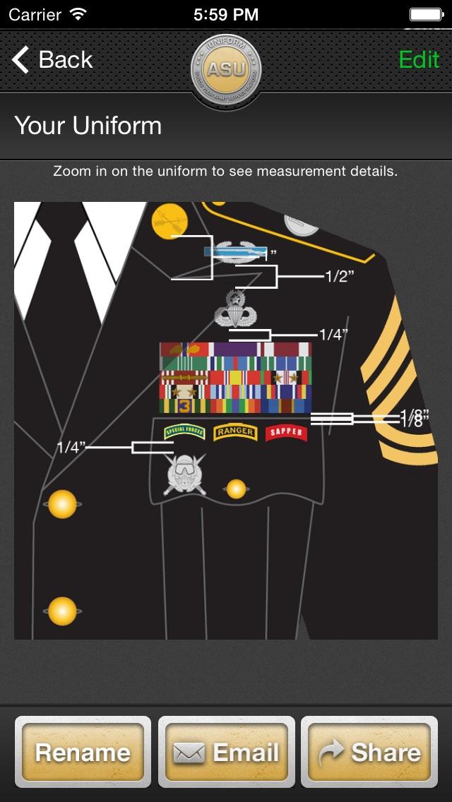 iUniform ASU - Builds Your Army Service Uniform Screenshot
