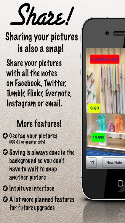 Snap Camera! - Write notes on your pictures the easy way. screenshot-4
