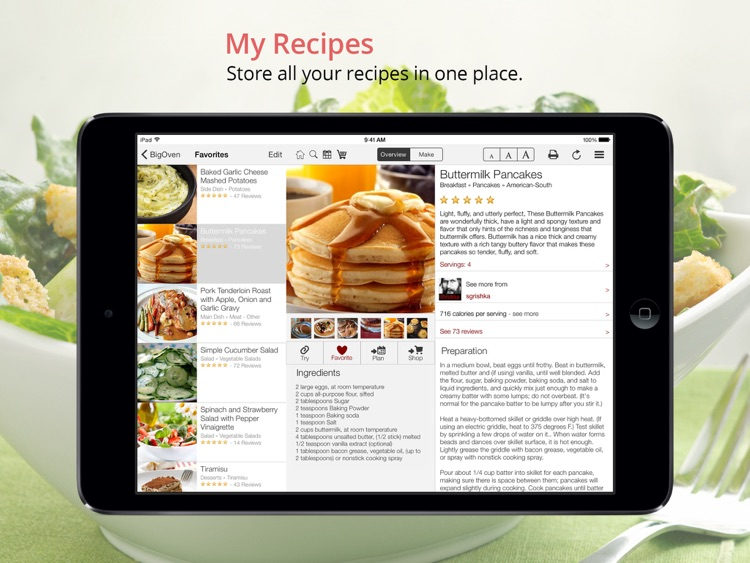 BigOven: 350,000+ Recipes and Grocery List