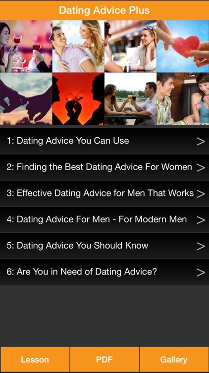 Dating Advice Plus - Dating Online Lesson, Dating Ebook & Gallery screenshot-0
