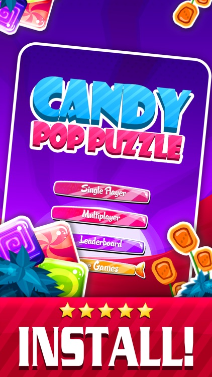 Candy Pop Puzzle 2015 - Soda Match 3 Candies Game For Children HD FREE screenshot-4