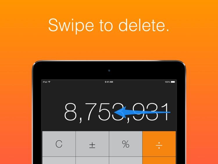 Calculator HD - the missing calculator on your iPad screenshot-3